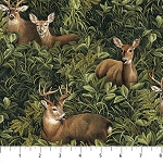 Algonquin Flannel F22551 76 Deer Forest, Northcott