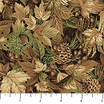 Algonquin Flannel F22552 34 Forest Closeup, Northcott