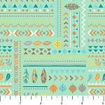 Teepee Time Flannel F31356 62 Green Symbols, Northcott