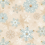 I Still Love Snow Flannel F6799 40 Snowflakes Cream, Henry Glass