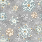 I Still Love Snow Flannel F6799 90 Snowflakes Grey, Henry Glass