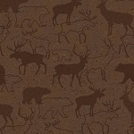 Woodland Retreat Flannel F6804 33 Tonal Deer Brown, Henry Glass