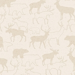Woodland Retreat Flannel F6804 40 Tonal Deer Cream, Henry Glass