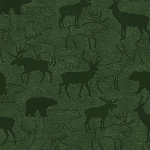 Woodland Retreat Flannel F6804 66 Tonal Deer Green, Henry Glass