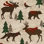 Woodland Retreat Flannel F6807 34 Animals, Henry Glass