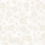 Woodland Retreat Flannel F6811 40 Snowflakes Cream, Henry Glass