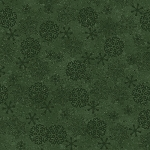 Woodland Retreat Flannel F6811 66 Snowflakes Green, Henry Glass
