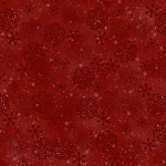 Woodland Retreat Flannel F6811 88 Snowflakes Red, Henry Glass