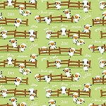 Harmony Farm Flannel F7141 Green Sheep, Riley Blake