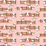 Harmony Farm Flannel F7141 Pink Sheep, Riley Blake