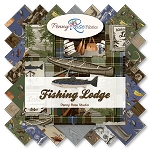 Fishing Lodge C6633 Green Baby Cakes Quilt Kit, Riley Blake