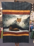 Call of the Wild Fox P4358 Wallhanging Quilt Kit, Hoffman