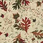 Trails End 6493 11 Parchment Large Maple Oak Leaves, Holly Taylor Moda