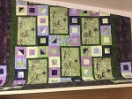 Highway 2 Wisconsin Custom Batik Light Green Quilt Kit, Hoffman