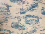 K2523 132 Opal Lift Bridge Split Rock Light House Custom Batik, Hoffman