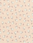 Doe, A Deer Flannel CF5577 Pink Tossed Bunnies, Timeless Treasures