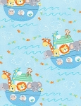 Baby Noah's Ark Flannel CF6572 Blue, Timeless Treasures