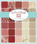 La Vie En Rouge Layer Cake, French General by Moda