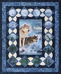 Many Moons Wolf Call of the Wild Hoffman Digital Panel Quilt Kit