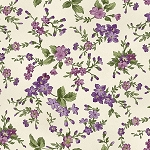 Aubergine 9153 E Trailing Flowers Cream, Maywood Studio