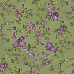 Aubergine 9153 G Trailing Flowers Green, Maywood Studio