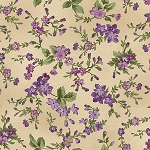 Aubergine 9153 T Trailing Flowers Tan, Maywood Studio
