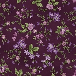 Aubergine 9153 V Trailing Flowers Violet, Maywood Studio