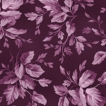 Aubergine 9154 V Tonal Leaves Violet Red, Maywood Studio