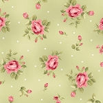 Welcome Home Flannel F8362 G Green Mini Floral, Maywood Studio