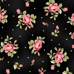 Welcome Home Flannel F8362 J Jet Mini Floral, Maywood Studio