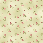 Welcome Home Flannel F8363 G Green Rosebud, Maywood Studio