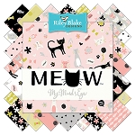 Meow C6562 Black Baby Cakes Quilt Kit, Riley Blake
