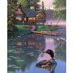 Summer Memories Loon Digital Panel ML30357CW1, David Textiles