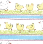 Duck Duck Goose Flannel 23121 11F Border Stripe White, Ingrid Slyder Moda