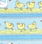Duck Duck Goose Flannel 23121 12F Duck Stripe Light Blue, Ingrid Slyder Moda