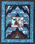 Moose on the Mountain Call of the Wild Hoffman Digital Quilt Kit