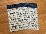 Custom Batik Sled Dog Natural Pillowcase Kits