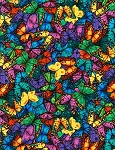 Butterflies C6324 Bright Butterflies, Chong a Hwang by Timeless Treasures