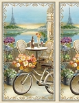 Le Café 89164 245 Paris Eiffel Tower Panel, Wilmington Prints