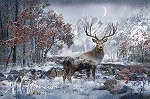 Call of the Wild Q4460 597 December Digital Majestic Stag Panel, Hoffman