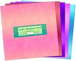 Ombre Washart Cool 24 pc Layer Cake Squares, Wilmington Prints