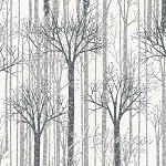 It's Cold Outside Metallic Q7650 3S White Trees, Hoffman