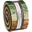 Northwoods Metallic Forest Jelly Roll, Artisan Batiks by Robert Kaufman