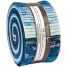 Northwoods Metallic Winter Jelly Roll, Artisan Batiks by Robert Kaufman