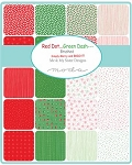 Red Dot Green Dash Jelly Roll, Me & My Sister by Moda