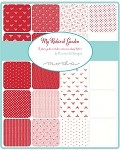 My Redwork Garden Layer Cake, Bunny Hill Design by Moda