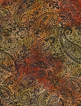 Tonga B5404 Flame Batik Botanical Paisley, Timless Treasures