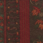 Turning Leaves 6570 16 Border Stripe Brown, Holly Taylor by Moda