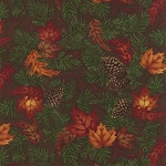 Turning Leaves 6571 16 Large Leaves Pine Brown, Holly Taylor by Moda