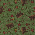 Turning Leaves 6572 11 Bears Light Green, Holly Taylor by Moda